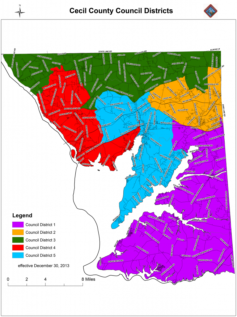 County Council District Map
